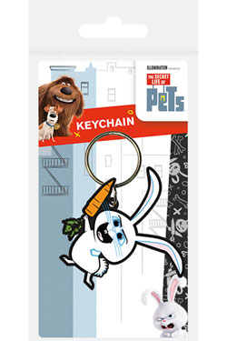 Secret Life of Pets Rubber Keychain Snowball 6 cm