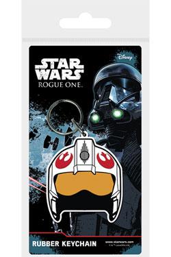 Star Wars Rogue One Rubber Keychain Rebel Helmet 6 cm