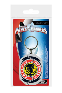 Power Rangers Rubber Keychain T-Rex Morphin Badge 6 cm