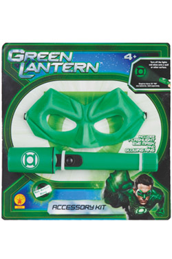 Green Lantern Action-Pack Flashlight, Eyemask and light up ring
