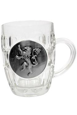 Game of Thrones Beer Glass Lannister Metallic Logo