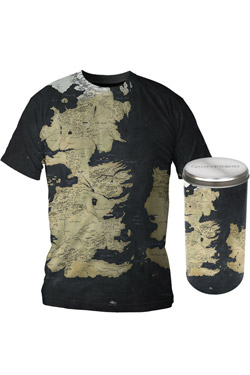 Game of Thrones T-Shirt Westeros Map Deluxe Edition Size S
