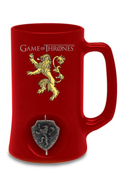 Game of Thrones Beer Glass 3D Rotating Lannister Black