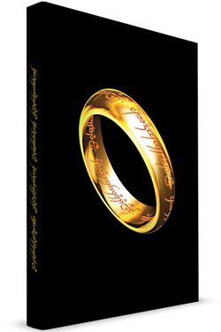 Lord of the Rings Notebook with Light The One Ring