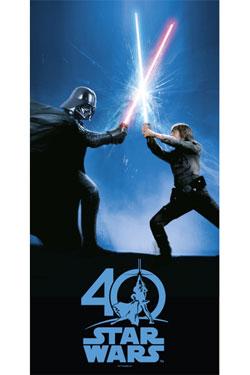Star Wars Glass Poster 40th Anniversary 60 x 30 cm