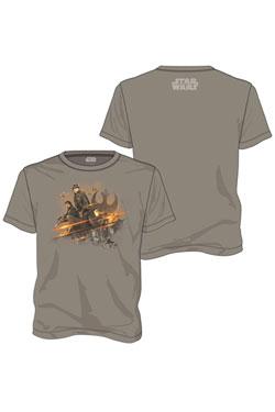 Star Wars Rogue One T-Shirt Rebel Group Size XXL