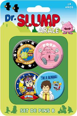 Dr. Slump Pin Badges 4-Pack Set B