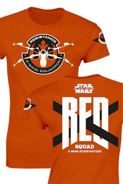 Star Wars Episode VII Ladies T-Shirt RED Squad Size XL