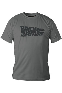 Back to the Future T-Shirt Grey Logo Size XL