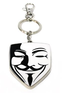 V for Vendetta Metal Key Ring Mask