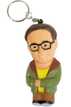 The Big Bang Theory Key-Chain with Anti-Stress Figure Leonard 8 cm