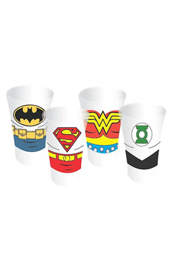 Justice League Shotglass 4-Pack