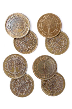 The Hobbit Coin Set #6 4 Shire Tuppences