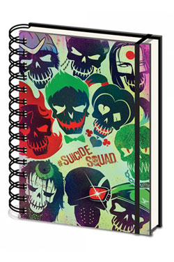 Suicide Squad Notebook A5 Skulls