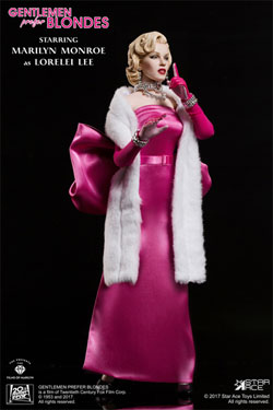 Gentlemen Prefer Blondes My Favourite Legend Action Figure 1/6 Marilyn Monroe Pink Dress Ver. 29 cm