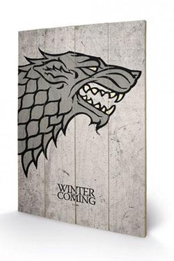 Game of Thrones Wooden Wall Art Stark 40 x 60 cm