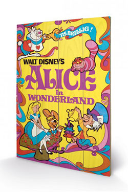 Alice in Wonderland Wooden Wall Art 1974 40 x 60 cm