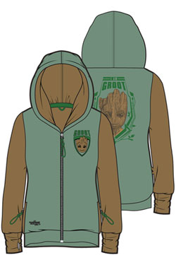 Guardians of the Galaxy Vol. 2 Ladies Hooded Zip Sweater I Am Groot Size XL