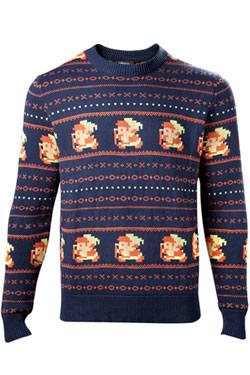 The Legend of Zelda Sweater Link Christmas blue Size XL