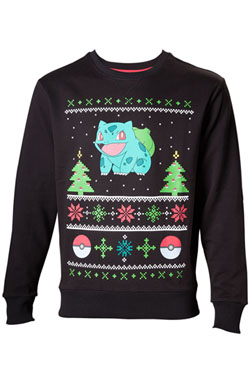 Pokemon Sweater Bulbasaur Christmas  Size M