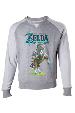 The Legend of Zelda Breath of the Wild Sweater Link on Epona Size S