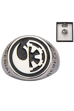 Star Wars Rogue One Ring Rebel Alliance/Galactic Empire Symbol Size 11