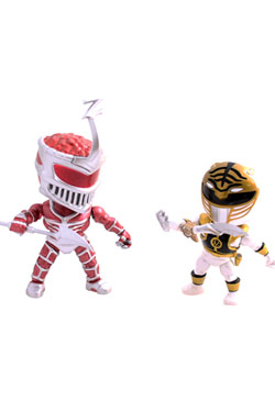 Mighty Morphin Power Rangers Action Vinyl Figures 2-Pack Metallic Zedd vs White Ranger 8 cm