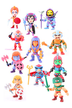Masters of the Universe Action Vinyl Mini Figures 8 cm Wave 1 Display (16)