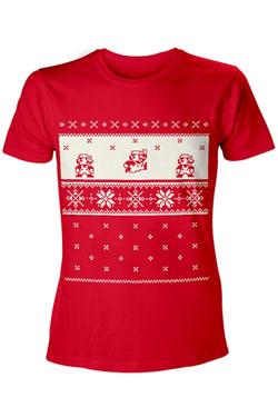 Nintendo T-Shirt X-Mas Mario Size M