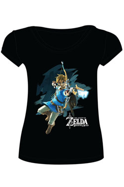 The Legend of Zelda Breath of the Wild Ladies T-Shirt Link with Arrow Size XL