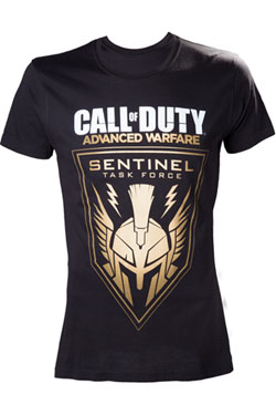 Call of Duty Duty Advanced Warfare T-Shirt Black Golden Sentinel Size L
