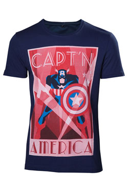 Captain America T-Shirt Shield Up Size M
