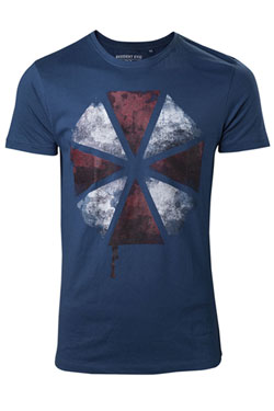 Resident Evil T-Shirt Blood Dripping Umbrella Logo Size M