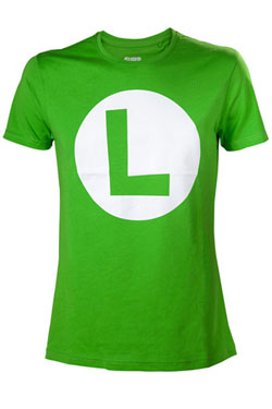 Nintendo T-Shirt Big L Logo Size S