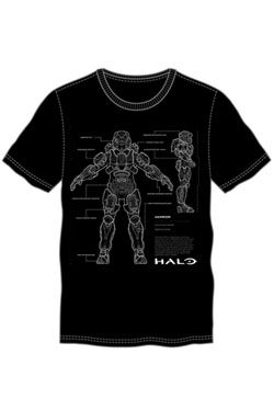 Halo 5 T-Shirt Anatomy Size S