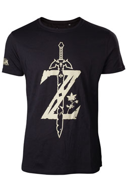 The Legend of Zelda Breath of the Wild T-Shirt Z Sword Size L