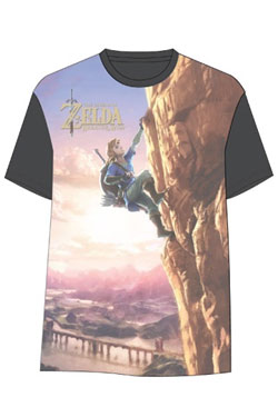 The Legend of Zelda Breath of the Wild Sublimation T-Shirt Link Climbing Size S
