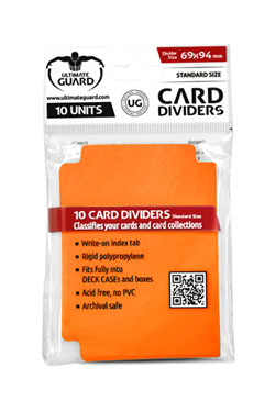Ultimate Guard Card Dividers Standard Size Orange (10)
