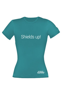 Ultimate Guard Ladies T-Shirt Shields Up! Petrol Blue Size XS