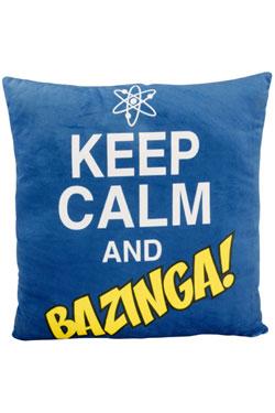 The Big Bang Theory Plush Cushion Keep Calm and Bazinga 40 x 40 cm