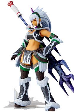 Monster Hunter X Vulcanlog Monhan Revo Action Figure Hunter Swordswoman Kirin U Series 16 cm