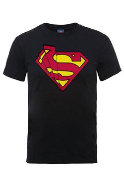 DC Comics T-Shirt Superman Glass Logo Size S