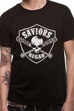 The Walking Dead T-Shirt Saviours Crest Size S