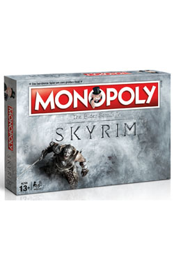 The Elder Scrolls V Skyrim Board Game Monopoly *German Version*
