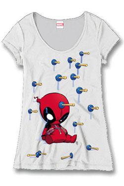 Deadpool Ladies T-Shirt Plunger Size L
