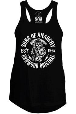 Sons Of Anarchy Girlie Tank Top Redwood Original Size L