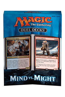 Magic the Gathering Duel Decks Mind vs. Might Display (6) english
