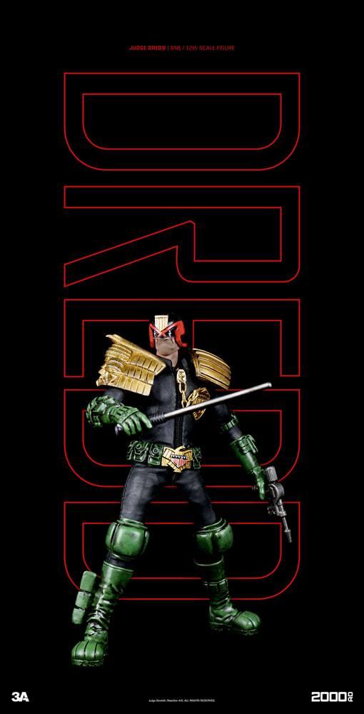 2000 AD Action Figure 1/12 Judge Dredd 16 cm