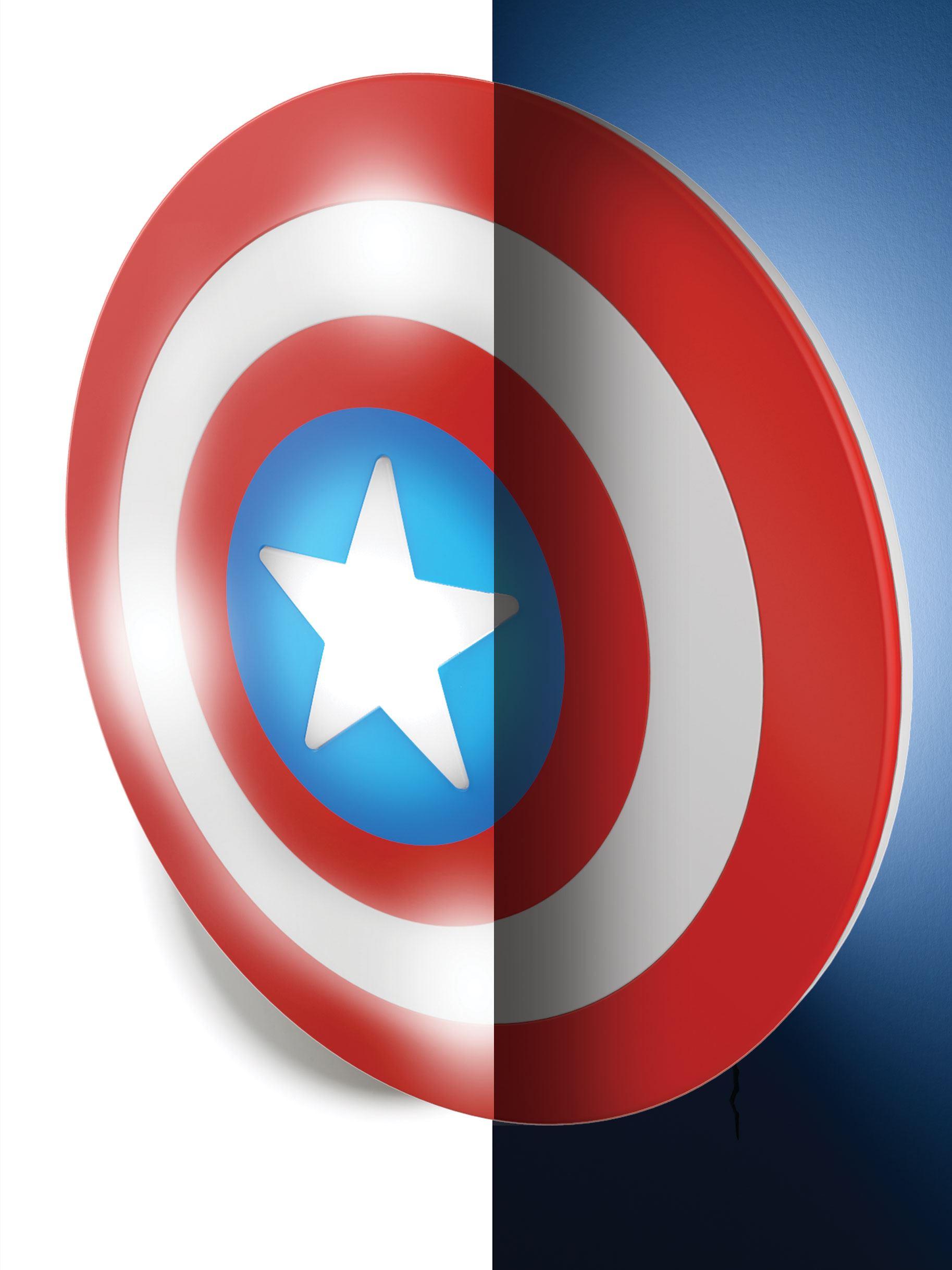 Marvel Comics 3D LED Light Captain America Shield New Design