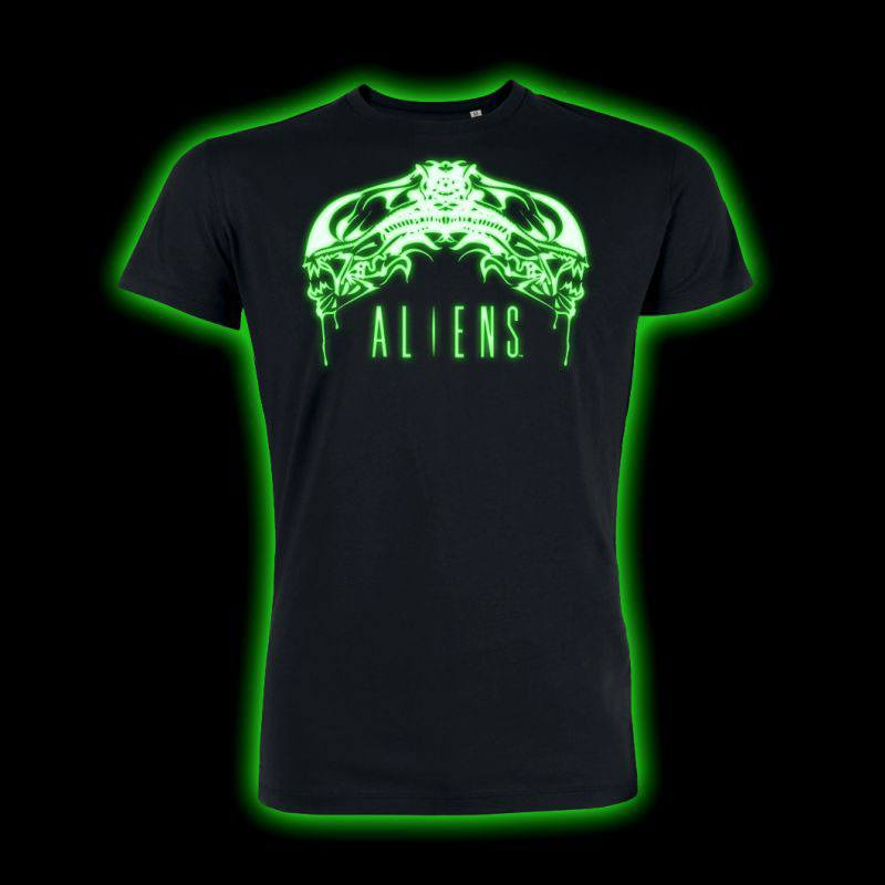 Alien T-Shirt Tribal Glow In The Dark Size XXL